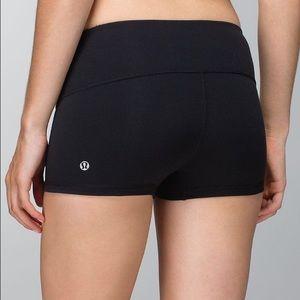 Lululemon Spandex Shorts, Black, Size 4